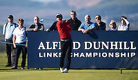 Alejandro Canizares of Spain tees off during Round 1 of the 2015 Alfred Dunhill Links Championship at the Old Course, St Andrews, in Fife, Scotland on 1/10/15.<br /> Picture: Richard Martin-Roberts | Golffile