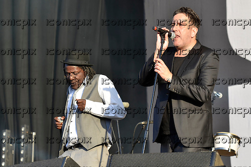 THE SPECIALS - Neville Staples and Terry Hall - performing live at the BT London Live 2012 Olympic Concerts in Hyde Park London UK -12 Aug 2012.  Photo credit: George Chin/IconicPix
