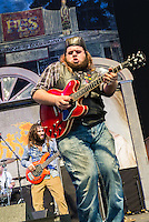Jonathon Boogie Long performing at Jazz Fest on April 24, 2015 in New Orleans, LA.