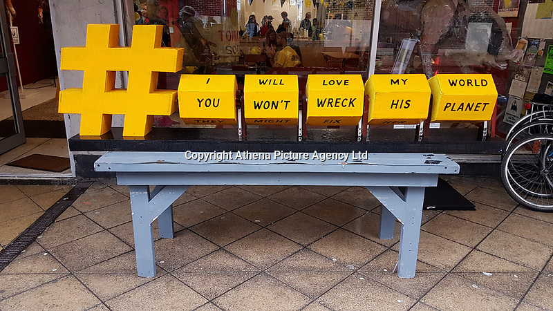 Pictured: Art outside The Volcano Theatre, High Street, Swansea. Saturday 15 July 2017<br />