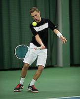 Rotterdam, Netherlands, Januari 28, 2017, ABNAMROWTT, Supermatch, Mitchel Slingerland/Stephan Bakker<br /> Photo: Tennisimages/Henk Koster