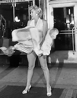 """The iconic image of Marilyn Monroe during the filming of """"The Seven Year Itch in 1954"""
