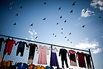 A thirft store sells used clothing in downtown Fresno, Calif., September 20, 2012.