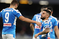 Goal celebration Lorenzo Insigne of Napoli celebrates<br /> Napoli 01-12-2019 Stadio San Paolo <br /> Football Serie A 2019/2020 <br /> SSC Napoli - Bologna FC<br /> Photo Cesare Purini / Insidefoto