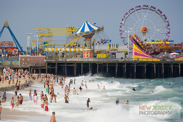 Summer visitors on the beach, Seaside Heights, New Jersey