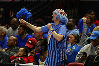 College Park, MD - March 25, 2019: UCLA Bruins fan cheers during game between UCLA and Maryland at  Xfinity Center in College Park, MD.  (Photo by Elliott Brown/Media Images International)