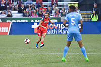 Portland, OR - Saturday June 17, 2017: Emily Menges during a regular season National Women's Soccer League (NWSL) match between the Portland Thorns FC and Sky Blue FC at Providence Park.