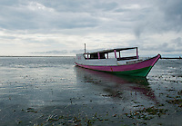 Boat anchored offshore near Vila, Atauro Island, Timor-Leste (East Timor)