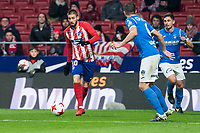 Atletico de Madrid Yannick Carrasco and Lleida Esportiu Andriu Hernandez during King's Cup match between Atletico de Madrid and Lleida Esportiu at Wanda Metropolitano in Madrid, Spain. January 09, 2018. (ALTERPHOTOS/Borja B.Hojas) /NortePhoto.com NORTEPHOTOMEXICO