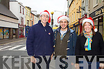 Cahersiveen Traders prepare for the Christmas season pictured here l-r; Eamon Casey(Casey Cycles), TK Nassar(Tech Kerry) & Diane Nolan(Nolan Bookmakers).