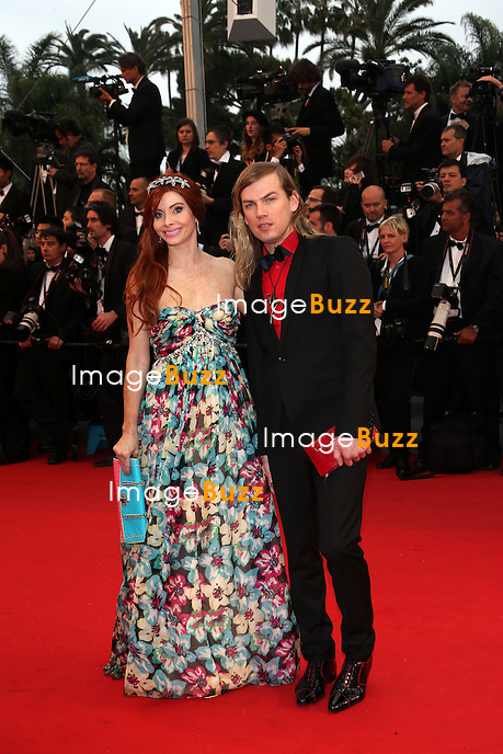 CPE/Christophe GuillarmÈ and Poebe Price attends the Opening Ceremony and 'The Great Gatsby' Premiere during the 66th Annual Cannes Film Festival at the Theatre Lumiere on May 15, 2013 in Cannes, France.