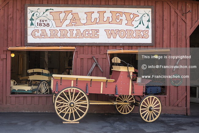 Valley Carriage Works is pictured in Dollywood theme park in Pigeon Forge, Tennessee Friday March 21, 2014. Located in the Knoxville-Smoky Mountains metroplex, Dollywood is a theme park owned by entertainer Dolly Parton and Herschend Family Entertainment.