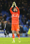 Watford's goalkeeper Ben Foster applauds the fans after the Premier League match at the American Express Community Stadium, Brighton and Hove. Picture date: 8th February 2020. Picture credit should read: Paul Terry/Sportimage