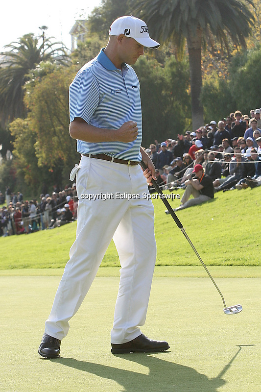 02/19/12 Pacific Palisades: Bill Haas tied for the lead in regulation then won on the second sudden death  playoff hole of the Northern Trust Open held at the Riviera Country Club