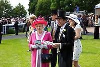 Princess Beatrice, Queen Elizabeth II, Prince Andrew, John Warren and Princess Eugenie