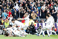 Real Madrid's players celebrate goal during La Liga match.March 02,2013. (ALTERPHOTOS/Acero) /NortePhoto