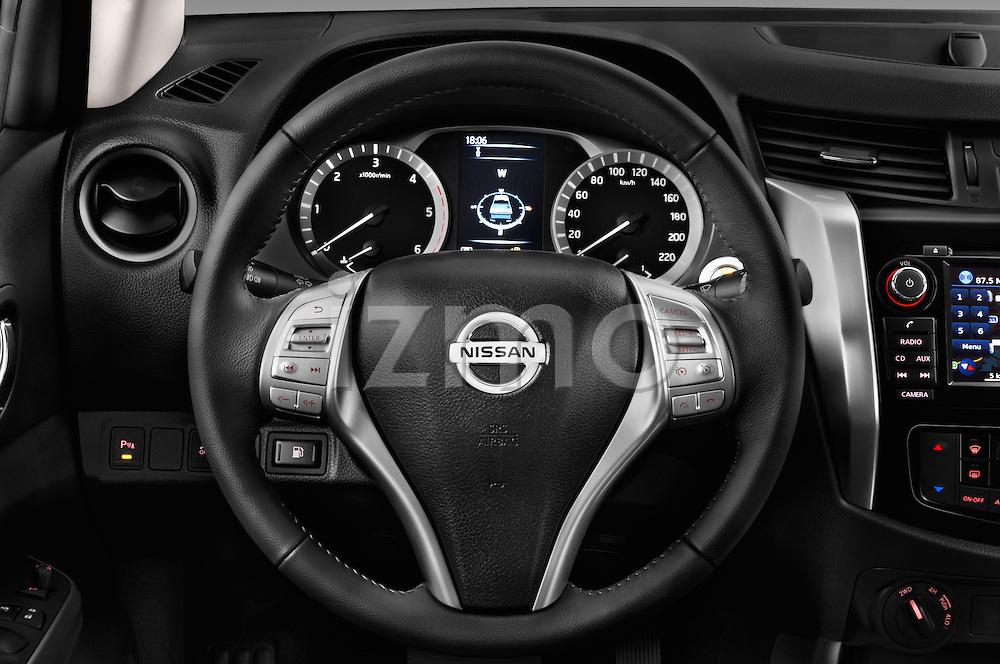 Car pictures of steering wheel view of a 2016 Nissan NP300 Tekna 4 Door Pickup Steering Wheel