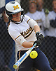 Sydney Tamburello #24 of Massapequa connects for a two-run home run to right field in the top of the fourth inning of Game 2 of the Nassau County varsity softball Class AA semifinals against host East Meadow High School on Tuesday, May 17, 2016.