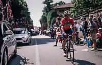 Domenico Pozzovivo (ITA/Bahrain-Merida) at the race start in Abbiategrasso<br /> <br /> stage 18: Abbiategrasso - Pratonevoso (196km)<br /> 101th Giro d'Italia 2018