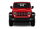 Car photography straight front view of a 2019 JEEP Wrangler Rubicon 5 Door SUV Front View