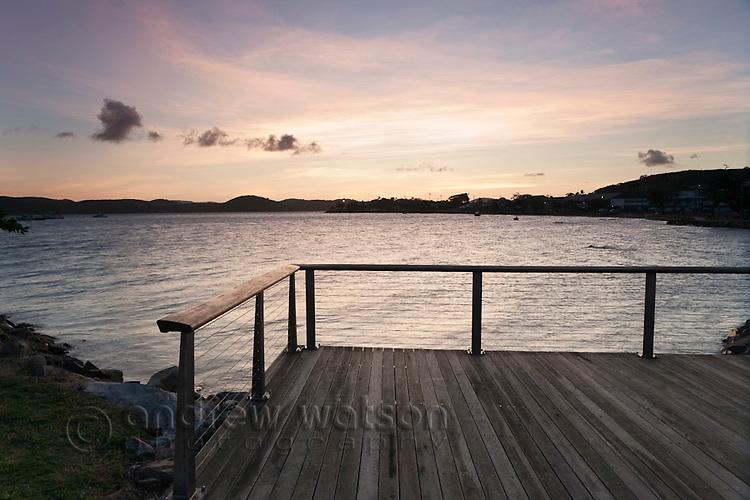 The Victoria Parade esplanade at dusk.  Thursday Island, Torres Strait Islands, Queensland, Australia