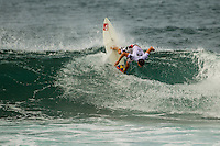 HONOLULU - (Thursday, November 15, 2012) Alain Riou (PYF).  -- The REEF Hawaiian Pro at Haleiwa Ali'i Beach Park - the first jewel of the $1million Vans Triple Crown of Surfing was ready for an 8am start this morning but was put on hold till 12.30 pm because of small surf conditions.  As the surf increased during the afternoon the first 12 heats of the Round of 128 were completed with Mason Ho (HAW) scoring the 'wave of the day' on the last wave of the last heat. Ho scored a double barrel to easily win his heat.  Photo: joliphotos.com