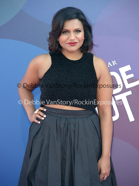 Mindy Kaling attends The Disney Pixar L.A. Premiere of Inside Out held at The El Capitan Theatre  in Hollywood, California on June 08,2015                                                                               © 2015 Hollywood Press Agency