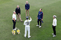 Daniel Bell-Drummond of Kent and Tom Westley of Essex contest the coin toss during Kent CCC vs Essex CCC, Friendly Match Cricket at The Spitfire Ground on 27th July 2020