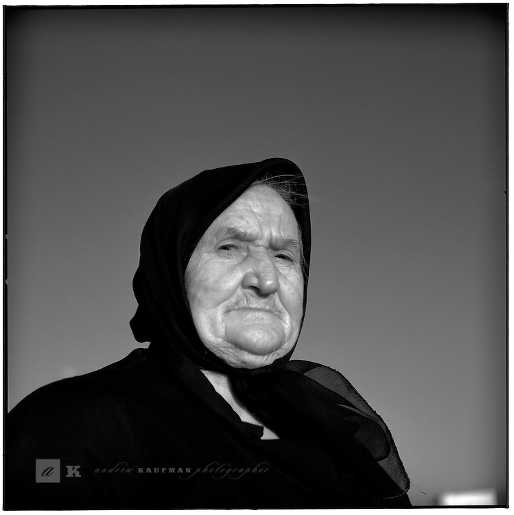 July 1996 -- Panos, Greek Islands -- An old greek lady on the island of Panos..Andrew Kaufman©1996