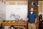Eric Kritivzky of Penguin Cycles, is a custom bike frame builder from Brownsville, Vermont.