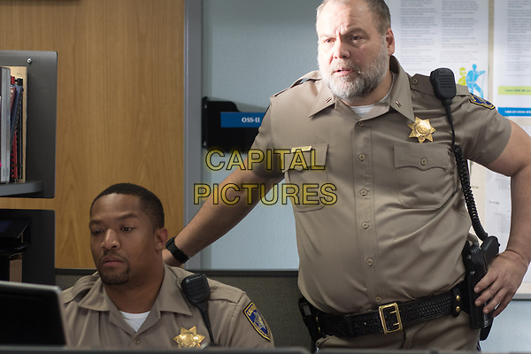 CHIPS (2017)<br /> PHIL TYLER as Cooper and VINCENT D'ONOFRIO as Ray Kurtz<br /> *Filmstill - Editorial Use Only*<br /> FSN-K<br /> Image supplied by FilmStills.net
