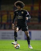 Hamza Choudhury of Leicester City U23 during the Under 23 Premier League 2 match between Chelsea U23 and Leicester City U23 at the Electrical Services Stadium, Aldershot, England on 2 February 2018. Photo by Andy Rowland / PRiME Media Images.