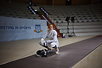 30.7.2015, Berlin Olympic Park. Competitions during the 14th European Maccabi Games. Fencing practice. US fencer Marina Bochenkova
