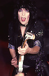 Mick Mars of Motley Crue at Madison Square Garden Aug 1985.