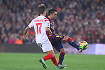 22.11.2014 Barcelona. La Liga day 12. Picture show Xavi Hernandez in action during game between FC Barcelona v Sevilla at Camp Nou