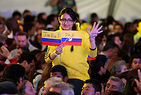 BOGOTA, Colombia. 15th June 2014. People celebrates the victory of  Colombian president Juan Manuel Santos after winning the runoff for presidential election in Bogota. Photo by Campaign/Juan Paez / VIEWpress TO EDITORS : THIS PICTURE WAS PROVIDED BY A THIRD PARTY.  THIS PICTURE IS DISTRIBUTED EXACTLY AS RECEIVED BY VIEWpress, AS A SERVICE TO CLIENTS