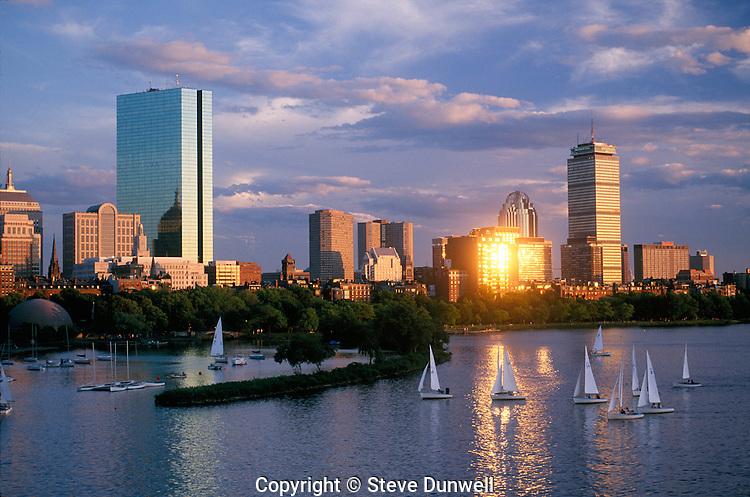 Back Bay skyline sunset, Boston, MA (sprintscan)