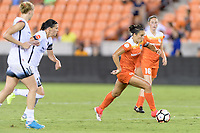 Houston, TX - Saturday July 08, 2017: Carli Lloyd races for the Portland goal during a regular season National Women's Soccer League (NWSL) match between the Houston Dash and the Portland Thorns FC at BBVA Compass Stadium.