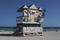 The 6th Street lifeguard hut, one of a series of art deco themed stations, each one unique, dotting the length of South Beach, truly a signature characteristic of Miami Beach