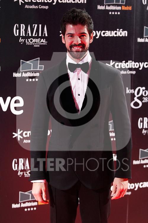 Actor Miguel Angel Muñoz attends Goya Cinema Awards 2014 red carpet at Centro de Congresos Principe Felipe on February 9, 2014 in Madrid, Spain. (ALTERPHOTOS/Victor Blanco)