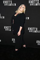 BUENA PARK, CA - SEPTEMBER 29: Hayley Hasselhoff, at Knott's Scary Farm & Instagram's Celebrity Night at Knott's Berry Farm in Buena Park, California on September 29, 2017. Credit: Faye Sadou/MediaPunch