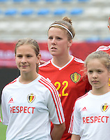 20150523 - SINT-TRUIDEN ,  BELGIUM : Belgian Laura Deloose pictured during the friendly soccer game between the Belgian Red Flames and Norway, a preparation game for Norway for the Women's 2015 World Cup, Saturday 23 May 2015 at Staaien in Sint-Truiden , Belgium. PHOTO DAVID CATRY