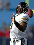 26 November 2006: Jacksonville Jaguars quarterback David Garrard (9) warms up prior to gametime against the Buffalo Bills at Ralph Wilson Stadium in Orchard Park, NY. The Bills defeated the Jaguars 27-24. Mandatory Photo Credit: Ed Wolfstein Photo<br />