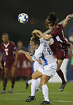 07 December 2007: UCLA's Lauren Cheney (l) and USC's Ashli Sandoval (r). The University of Southern California Trojans defeated the University of California Los Angeles Bruins 2-1 at the Aggie Soccer Stadium in College Station, Texas in a NCAA Division I Womens College Cup semifinal game.