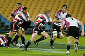 Grant Henson makes a break upfield. Air New Zealand Cup rugby game between Counties Manukau Steelers & North Harbour, played at Mt Smart Stadium on August 10th, 2007. The game ended in a 13 all draw.