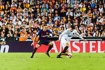 Cristiano Piccini of Valencia CF (R) in action against Arthur Melo of FC Barcelona (L) during their La Liga 2018-19 match between Valencia CF and FC Barcelona at Estadio de Mestalla on October 07 2018 in Valencia, Spain. Photo by Maria Jose Segovia Carmona / Power Sport Images