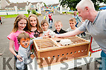 Family Fun Day: Gary Carey showin off his his multi coloured Pidgeons at the family Fun day at Listowel Family Resouce Centre on Saturday last Tommy & Emma O'Connor Moran, Ava Fitzgerald, William & Etghan O'Carroll & Ethan Flannery.