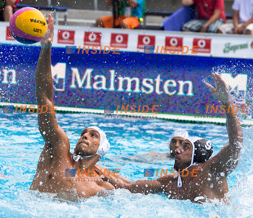 11 AICARDI Matteo ITA<br /> ITA(white) vs GEO(blue) Men<br /> LEN European Water Polo Championships 2014 - July 14-27<br /> Alfred Hajos -Tamas Szechy Swimming Complex<br /> Margitsziget - Margaret Island<br /> Day04 - July 17 <br /> Photo G. Scala/Inside/