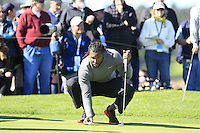 Arizona Cardinals wide receiver Larry Fitzgerald at the 6th green at Pebble Beach Golf Links during Saturday's Round 3 of the 2017 AT&amp;T Pebble Beach Pro-Am held over 3 courses, Pebble Beach, Spyglass Hill and Monterey Penninsula Country Club, Monterey, California, USA. 11th February 2017.<br /> Picture: Eoin Clarke | Golffile<br /> <br /> <br /> All photos usage must carry mandatory copyright credit (&copy; Golffile | Eoin Clarke)