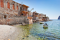 Gerolimenas is a traditional fishing village in Mani, Greece